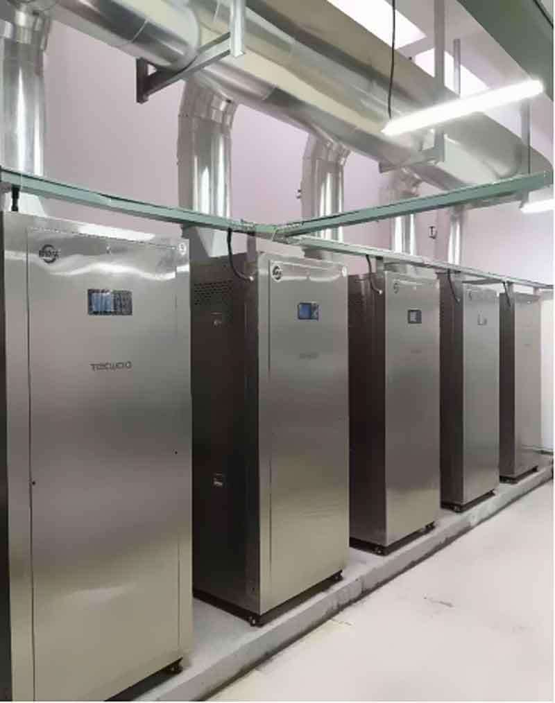四川某二甲级人民医院低氮改造5台0.6T超低氮蒸汽热源机